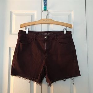 Burgundy American Eagle Shorts